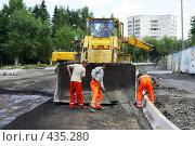 Купить «Дорожные работы», фото № 435280, снято 15 июля 2008 г. (c) Дмитрий Лемешко / Фотобанк Лори