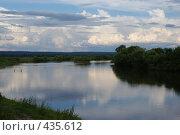 Купить «Река, тихий вечер», фото № 435612, снято 6 июля 2008 г. (c) Виталий Попов / Фотобанк Лори