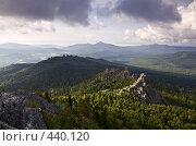 Купить «Облака над Южно-Уральскими горами», фото № 440120, снято 24 августа 2008 г. (c) Евгений Прокофьев / Фотобанк Лори