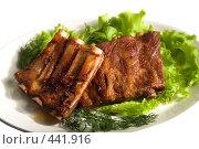 Купить «Жареное мясо», фото № 441916, снято 21 мая 2008 г. (c) Коваль Василий / Фотобанк Лори