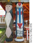 Купить «Верхние Мандроги. Деревянная скульптура», фото № 442416, снято 5 августа 2008 г. (c) Морковкин Терентий / Фотобанк Лори