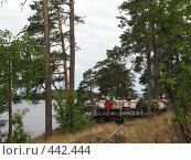 Купить «Валаам. Смотровая площадка. Туристы.», фото № 442444, снято 6 августа 2008 г. (c) Морковкин Терентий / Фотобанк Лори