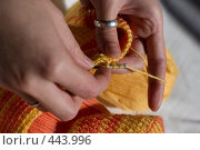 Купить «Вязание крючком», фото № 443996, снято 7 сентября 2008 г. (c) Малютин Павел / Фотобанк Лори