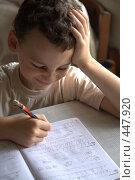 Купить «Пишущий мальчик», фото № 447920, снято 9 сентября 2008 г. (c) Юля Тюмкая / Фотобанк Лори