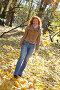 Счастливая девушка гуляет в парке, фото № 448776, снято 3 ноября 2007 г. (c) Юрий Коновал / Фотобанк Лори