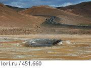 Купить «Дорога уходящая к вулкану в Исландии», фото № 451660, снято 23 августа 2008 г. (c) Комаров Константин / Фотобанк Лори
