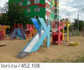 Купить «Г. Раменское. Детская площадка во дворе дома.», фото № 452108, снято 29 августа 2007 г. (c) Денис Шароватов / Фотобанк Лори