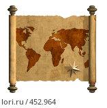 Купить «Старинный свиток с картой», иллюстрация № 452964 (c) Лукиянова Наталья / Фотобанк Лори