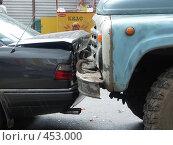 Купить «Авария. ЗиЛ догнал Mercedes», фото № 453000, снято 23 июня 2006 г. (c) Виктор Водолазький / Фотобанк Лори