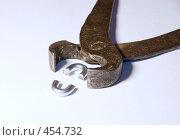 Купить «Клещи раскусившие цепь», фото № 454732, снято 2 марта 2008 г. (c) Владислав Грачев / Фотобанк Лори