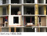 Купить «Строительство жилого дома», фото № 456568, снято 13 сентября 2008 г. (c) Юлия Подгорная / Фотобанк Лори