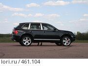 Купить «Автомобиль с женскими ножками под ним», фото № 461104, снято 8 апреля 2008 г. (c) Никончук Алексей / Фотобанк Лори