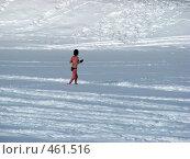Купить «Зимний пейзаж. Девушка бегает по снегу.», эксклюзивное фото № 461516, снято 16 февраля 2007 г. (c) lana1501 / Фотобанк Лори