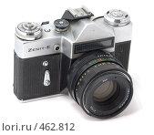 Купить «ЗЕНИТ-Е популярный пленочный зеркальный фотоаппарат с объективом Гелиос 44М», фото № 462812, снято 16 сентября 2008 г. (c) Дмитрий Боев / Фотобанк Лори