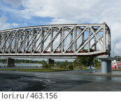Пролет первого железнодорожного моста через Обь (2008 год). Стоковое фото, фотограф Марина Коваленко / Фотобанк Лори