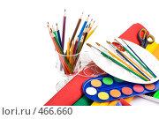 Купить «Натюрморт из канцелярских товаров для творчества», фото № 466660, снято 31 июля 2008 г. (c) Мельников Дмитрий / Фотобанк Лори