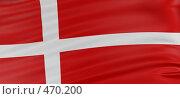 3Д флаг Дании. Стоковая иллюстрация, иллюстратор Панюков Юрий / Фотобанк Лори