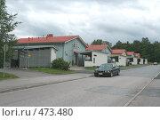 Купить «Домики в городе Нокиа, Финляндия», фото № 473480, снято 6 сентября 2008 г. (c) Алла Матвейчик / Фотобанк Лори