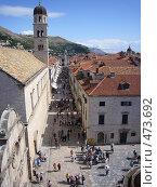 Купить «Центральная улица старого Дубровника», фото № 473692, снято 16 сентября 2008 г. (c) Александр Пашкин / Фотобанк Лори