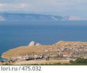 Купить «Байкал. Вид на поселок Хужир на острове Ольхон», фото № 475032, снято 11 сентября 2008 г. (c) Andrey M / Фотобанк Лори