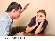 Купить «Конфликт между супругами», фото № 483104, снято 28 сентября 2007 г. (c) Гладских Татьяна / Фотобанк Лори