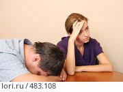 Купить «Конфликт между супругами», фото № 483108, снято 28 сентября 2007 г. (c) Гладских Татьяна / Фотобанк Лори