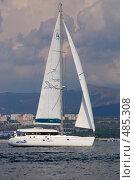 Купить «Океанская крейсерская парусно моторная яхта Аксиния», фото № 485308, снято 20 февраля 2020 г. (c) Игорь Архипов / Фотобанк Лори
