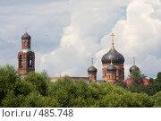 Купить «Купола и колокольня», фото № 485748, снято 26 июля 2008 г. (c) Алексей Шипов / Фотобанк Лори