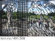 Купить «Ворота в парке скульптур Вигеланна. Осло.», фото № 491508, снято 7 июля 2008 г. (c) Ярослав Никитин / Фотобанк Лори