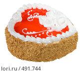 Купить «Подарочный торт в виде сердца», фото № 491744, снято 26 сентября 2008 г. (c) Анна Мегеря / Фотобанк Лори