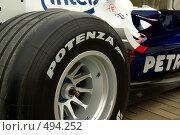 Купить «Болид формулы-1», фото № 494252, снято 1 октября 2008 г. (c) Петухов Геннадий / Фотобанк Лори
