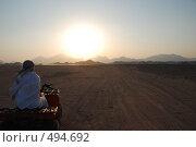 Закат в пустыне (2007 год). Стоковое фото, фотограф Сергей Анисимов / Фотобанк Лори