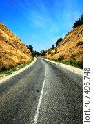 Купить «Дорога в горах», фото № 495748, снято 9 сентября 2008 г. (c) Вероника Галкина / Фотобанк Лори