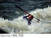 Купить «Каяк в пороге на бурной реке», фото № 496704, снято 28 июня 2008 г. (c) Комаров Константин / Фотобанк Лори