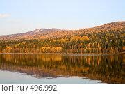 Купить «Осенний лес у озера», фото № 496992, снято 5 октября 2008 г. (c) Андрей Брусов / Фотобанк Лори