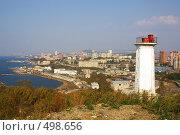 Купить «Маяк, вид на Владивосток», фото № 498656, снято 7 октября 2008 г. (c) Елена Климовская / Фотобанк Лори