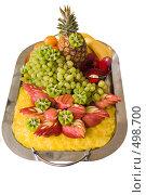 Купить «Фруктовое ассорти на праздничном столе», фото № 498700, снято 4 октября 2008 г. (c) Федор Королевский / Фотобанк Лори