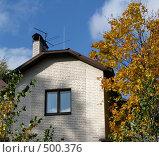 Купить «Частный дом», фото № 500376, снято 5 октября 2008 г. (c) Юлия Подгорная / Фотобанк Лори