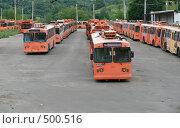 Купить «Троллейбусное депо», фото № 500516, снято 15 июля 2007 г. (c) Yevgeniy Zateychuk / Фотобанк Лори