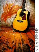 Купить «Акустическая гитара», фото № 500840, снято 16 февраля 2008 г. (c) Фурсов Алексей / Фотобанк Лори