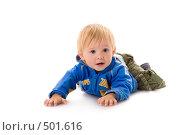 Купить «Годовалый малыш ползает», фото № 501616, снято 8 октября 2008 г. (c) Лисовская Наталья / Фотобанк Лори