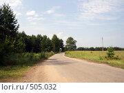 Купить «Дорога в солнечный день», фото № 505032, снято 21 июля 2008 г. (c) Сергей Лысенков / Фотобанк Лори