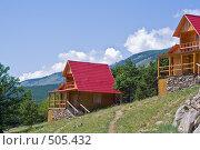 Купить «Семейные домики на базе отдыха. Малое море, озеро Байкал», фото № 505432, снято 14 июля 2008 г. (c) Сергей Болоткин / Фотобанк Лори