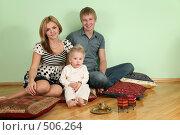 Купить «Счастливая семья», фото № 506264, снято 23 февраля 2019 г. (c) Losevsky Pavel / Фотобанк Лори