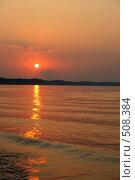 Купить «Закат на Волге», фото № 508384, снято 16 августа 2008 г. (c) Дмитрий Лагно / Фотобанк Лори