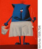 Купить «Кот-рыболов», иллюстрация № 509704 (c) Галина Гуреева / Фотобанк Лори