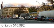 Купить «Автомобильная пробка вечером. Петербург», фото № 510992, снято 15 октября 2008 г. (c) Юлия Подгорная / Фотобанк Лори