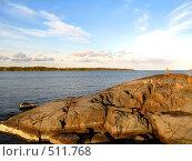 Купить «Скала на берегу», фото № 511768, снято 24 сентября 2008 г. (c) Алина Анохина / Фотобанк Лори