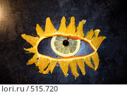 Купить «Глаз из апельсина, лимона, смородины», фото № 515720, снято 19 августа 2018 г. (c) Андрей Ветров / Фотобанк Лори
