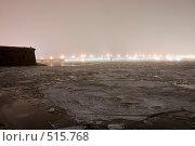 Купить «Туманный вечер над замерзшей Невой и огни Троицкого моста», эксклюзивное фото № 515768, снято 16 декабря 2007 г. (c) Александр Щепин / Фотобанк Лори